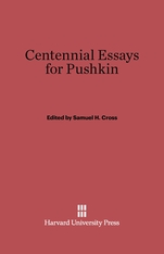 Cover: Centennial Essays for Pushkin