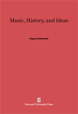 Cover: Music, History, and Ideas