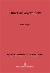 Cover: Ethics in Government