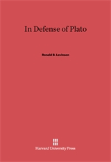 Cover: In Defense of Plato