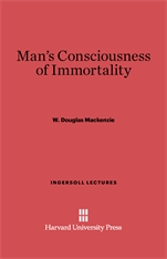 Cover: Man's Consciousness of Immortality