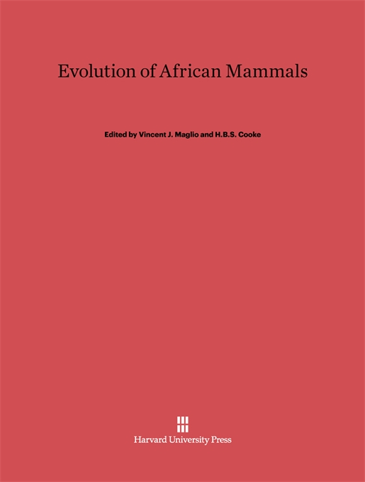 Cover: Evolution of African Mammals, from Harvard University Press