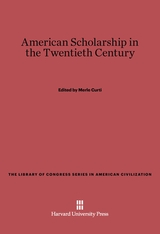 Cover: American Scholarship in the Twentieth Century