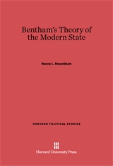 Cover: Bentham's Theory of the Modern State