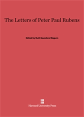 Cover: The Letters of Peter Paul Rubens