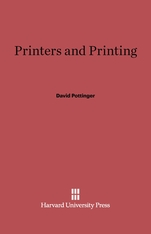 Cover: Printers and Printing in E-DITION