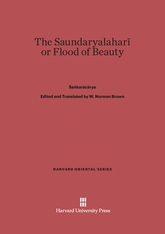 Cover: The Saundaryalaharī or Flood of Beauty
