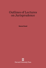Cover: Outlines of Lectures on Jurisprudence: Fifth edition