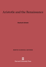 Cover: Aristotle and the Renaissance in E-DITION