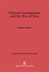 Cover: Chinese Communism and the Rise of Mao