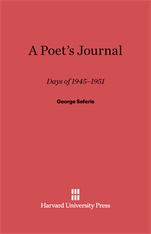 Cover: A Poet's Journal: Days of 1945-51