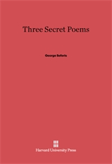 Cover: Three Secret Poems