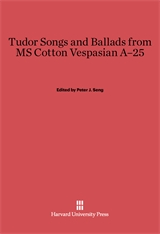 Cover: Tudor Songs and Ballads from MS Cotton Vespasian A-25