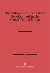 Cover: Chronology and Recensional Development in the Greek Text of Kings