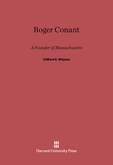 Cover: Roger Conant: A Founder of Massachusetts