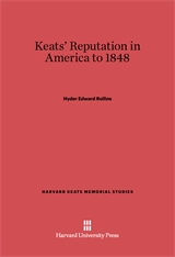 Cover: Keats' Reputation in America to 1848