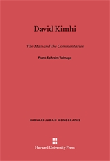 Cover: David Kimhi: The Man and the Commentaries