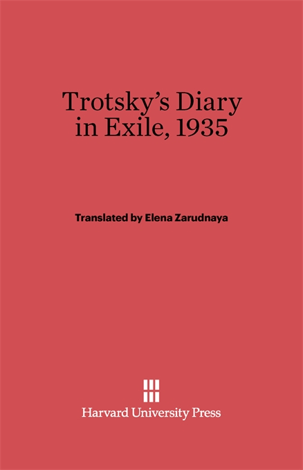 Cover: Trotsky's Diary in Exile, 1935: Revised Edition, from Harvard University Press