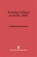 Cover: Trotsky's Diary in Exile, 1935 in E-DITION