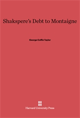 Cover: Shakespeare's Debt to Montaigne