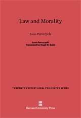 Cover: Law and Morality: Leon Petrażycki