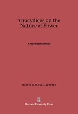 Cover: Thucydides on the Nature of Power