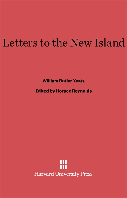 Cover: Letters to the New Island, from Harvard University Press
