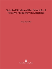 Cover: Selected Studies of the Principle of Relative Frequency in Language