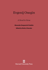 Cover: Evgenij Onegin: A Novel in Verse
