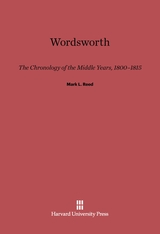 Cover: Wordsworth: The Chronology of the Middle Years, 1800–1815