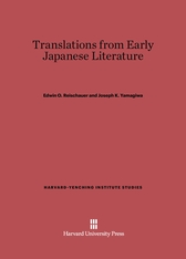 Cover: Translations from Early Japanese Literature: Second Edition, Abridged