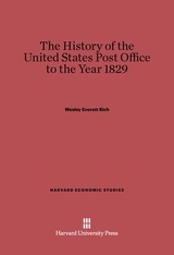 Cover: A History of the United States Post Office to the Year 1829