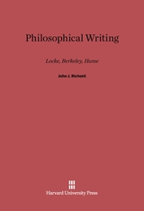 Cover: Philosophical Writing: Locke, Berkeley, Hume