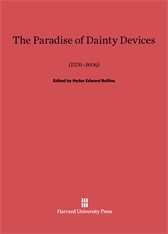 Cover: A Paradise of Dainty Devices (1576–1606) in E-DITION