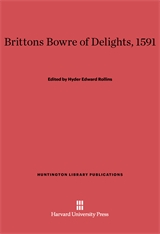 Cover: Brittons Bowre of Delights, 1591 in E-DITION