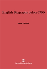 Cover: English Biography Before 1700