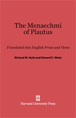 Cover: The Menaechmi of Plautus: Translated into English Prose and Verse, With a Preface by E. K. Rand