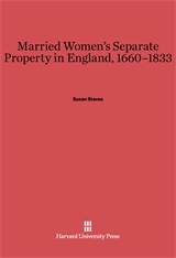 Cover: Married Women's Separate Property in England, 1660–1833