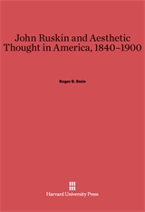 Cover: John Ruskin and Aesthetic Thought in America, 1840-1900 in E-DITION