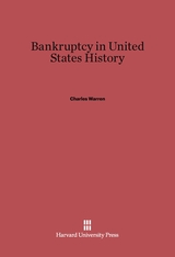 Cover: Bankruptcy in United States History