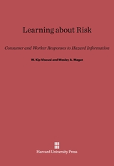 Cover: Learning about Risk: Consumer and Worker Responses to Hazard Information