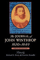 Cover: The Journal of John Winthrop, 1630-1649: Abridged Edition