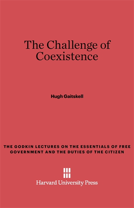 Cover: The Challenge of Coexistence, from Harvard University Press