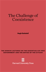 Cover: The Challenge of Coexistence