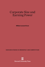 Cover: Corporate Size and Earning Power