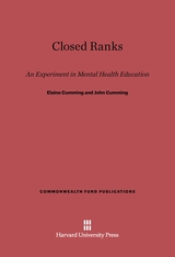 Cover: Closed Ranks: An Experiment in Mental Health Education