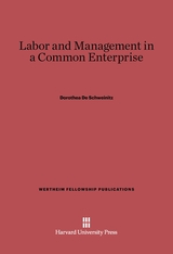Cover: Labor and Management in a Common Enterprise