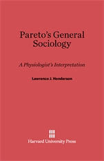 Cover: Pareto's General Sociology: A Physiologist's Interpretation