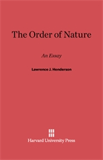 Cover: The Order of Nature: An Essay