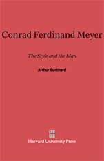Cover: Conrad Ferdinand Meyer: The Style and the Man